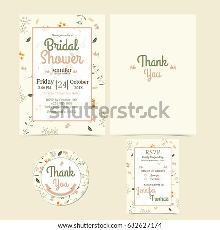 Colorful flowers wedding invitation card illustration stock vector colorful flowers wedding invitation card illustration set minimalist spring stylectorillustration stopboris Image collections