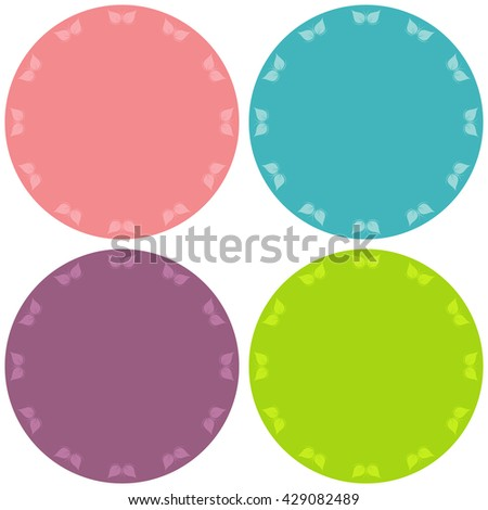 Colorful four blank stickers set.  - stock vector