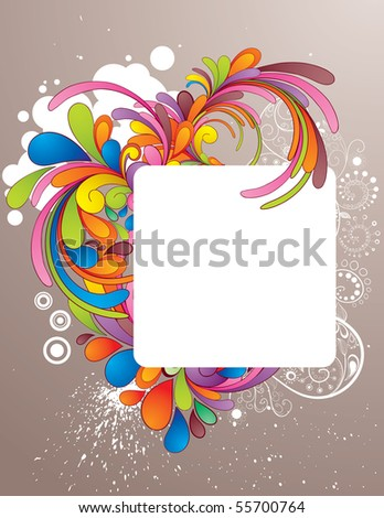 Colorful frame design for your message