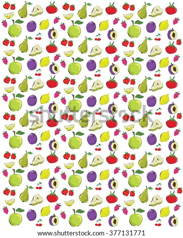 colorful fruit background - stock vector