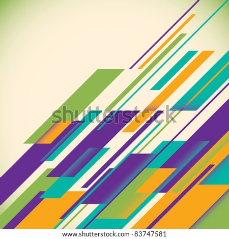 Colorful futuristic layout. Vector illustration. - stock vector