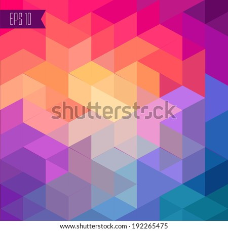 colorful geomerical background - stock vector
