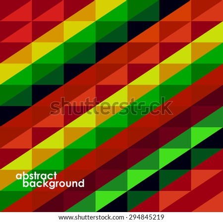 Colorful geometric abstract background from squares. Vector illustration. Eps 10 - stock vector