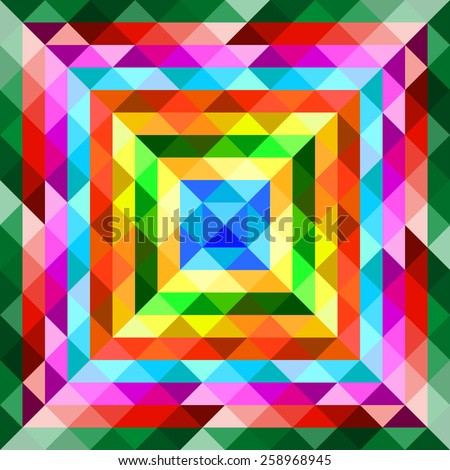 Colorful geometric abstract background from triangles. Vector illustration. Eps 10 - stock vector