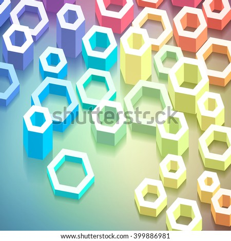 Colorful geometric abstract background, vector eps 10 illustration - stock vector