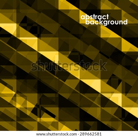 Colorful geometric abstract background with squares. Vector illustration. Eps 10 - stock vector
