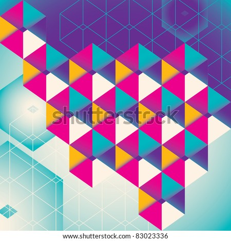 Colorful geometric abstraction. Vector illustration. - stock vector