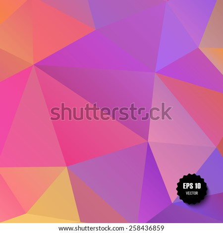 Colorful geometric background - eps10  - stock vector