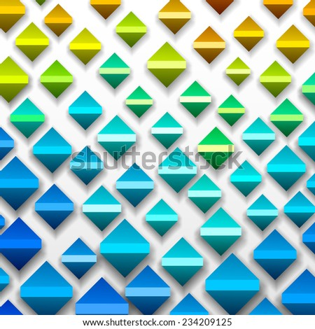 Colorful Geometric Background, vector eps10 format - stock vector
