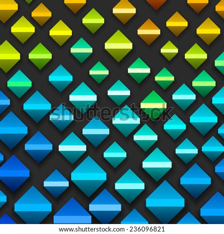 Colorful Geometric Background,  vector eps10 illustration - stock vector