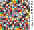 Colorful geometric background. Vector illustration - stock photo