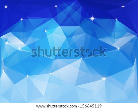 Colorful geometric background with triangles. - stock vector