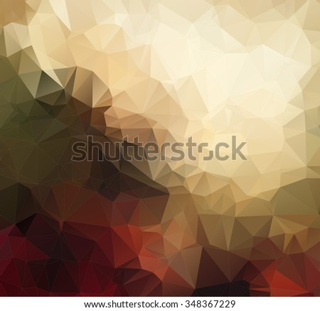 Colorful geometric background with triangles for your design - stock vector