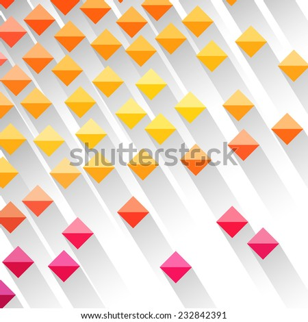Colorful Geometric Design - stock vector