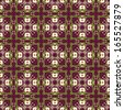 Colorful geometric pattern seamless. Arabesque style - stock
