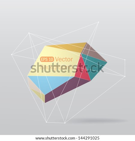 Colorful geometrical background with lines. - stock vector