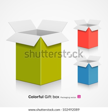 Colorful gift box. vector illustration - stock vector