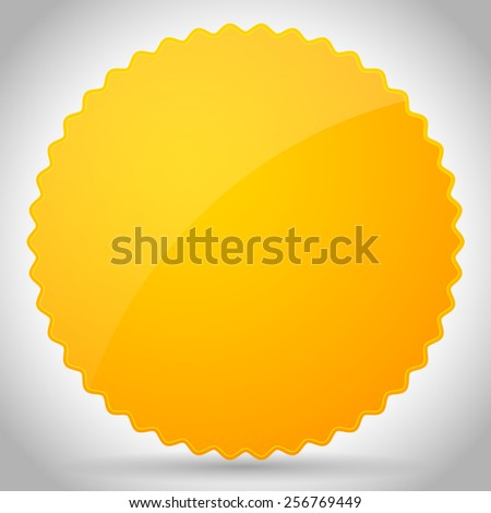 Colorful Glossy Badge shapes with blank space - stock vector