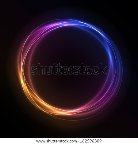 Colorful Glowing Rings - vector eps10 abstract background - stock vector