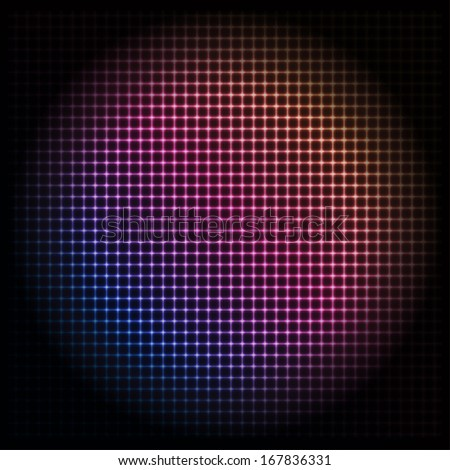 Colorful Glowing Sphere - vector eps10 abstract background