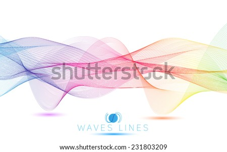 colorful gradient light waves line bright abstract pattern illustration vector eps10 - stock vector
