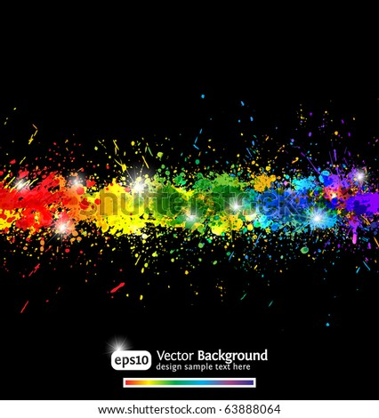 Colorful gradient paint splashes vector background. Modern vector illustration. Eps10. - stock vector