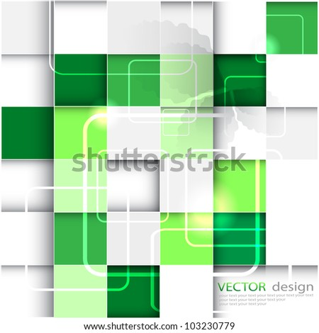 colorful green vector background - stock vector