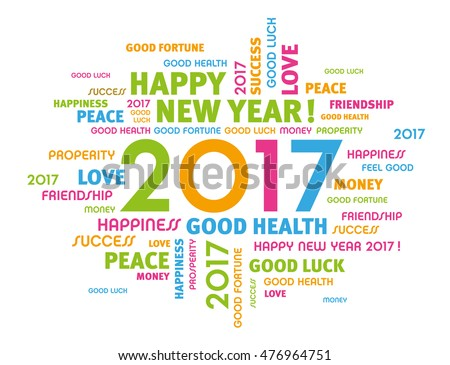 Colorful greeting words around 2017 year stock vector 476964751 colorful greeting words around 2017 year type isolated on white m4hsunfo
