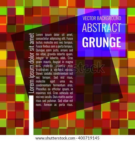Colorful grunge background. Vector illustration EPS10 - stock vector