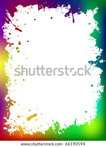 Colorful grunge border - stock vector