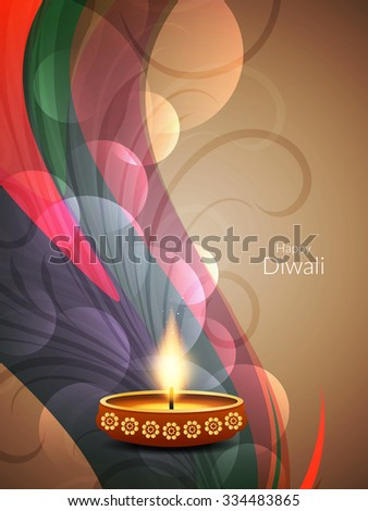 Colorful happy diwali religious background.