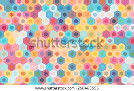 colorful hexagon background.vector geometric pattern design. - stock vector