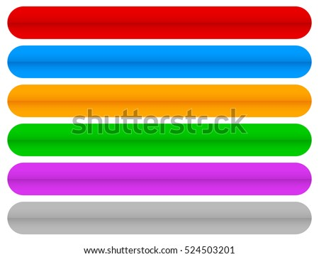 Oblong shape stock images royalty free images vectors colorful horizontal long buttons banners with rounded corners urmus Gallery