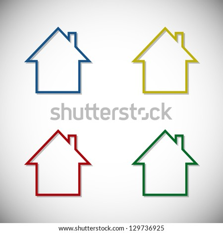 Colorful houses - stock vector