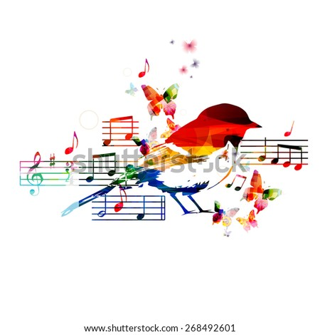Colorful hummingbird design - stock vector