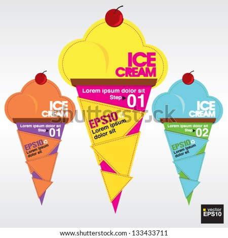 Colorful ice cream vector.EPS10 - stock vector