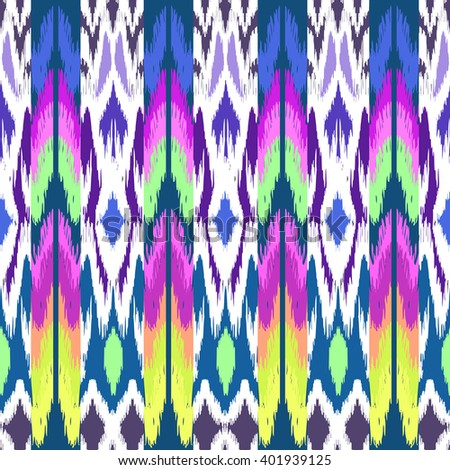 colorful ikat print ~ seamless background