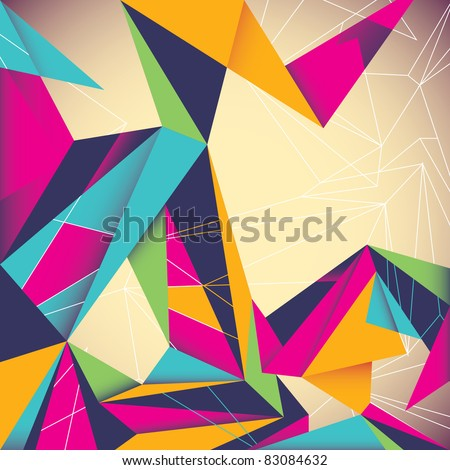 Colorful illustrated abstraction. Vector illustration. - stock vector