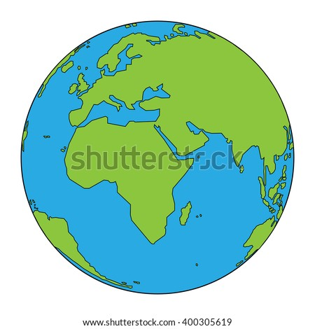 Colorful illustration background with globe concept. Earth Day. Vector design.
