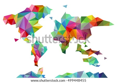 Colorful illustration world map made different stock vector colorful illustration of a world map made of different geometric shapes gumiabroncs Image collections