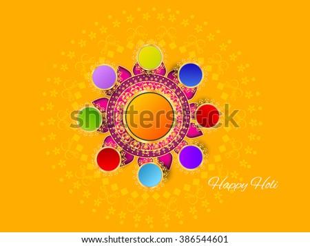Colorful illustration holi greeting card flyer stock vector colorful illustration of holi greeting card or flyer design m4hsunfo