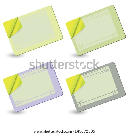 colorful illustration with cards for your design - stock vector