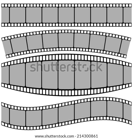 colorful illustration with set of Film strip on a white background - stock vector