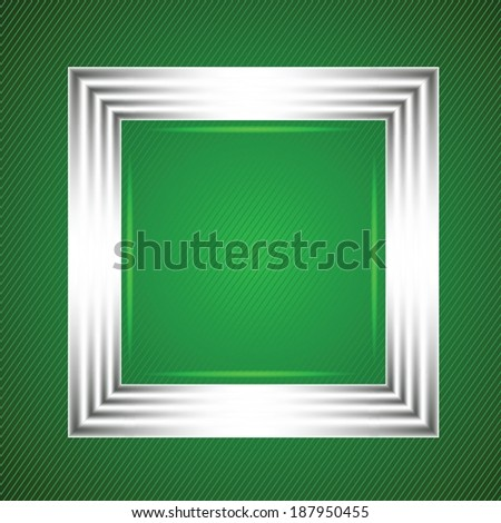 colorful illustration with  white frame on a green background. for your design - stock vector