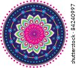Colorful Indian pattern - stock photo