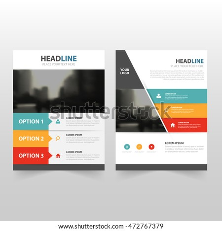 Colorful infographic annual report Brochure Leaflet Flyer template design, book cover layout design, abstract business presentation template, a4 size design