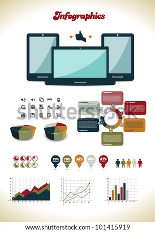 Colorful Infographics - stock vector