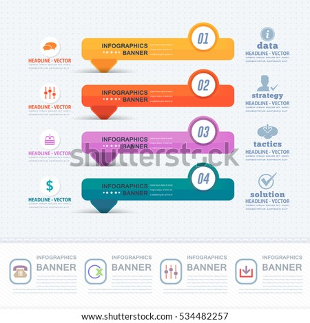 Colorful Infographics Shapes Illustration Multicolored Stats Stock ...