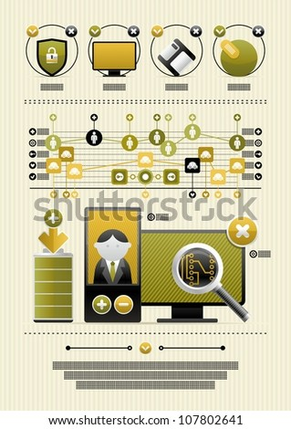 colorful infographics with icons - stock vector