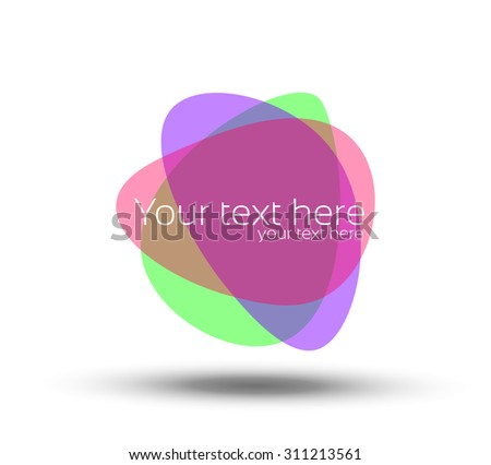 Colorful ink blot splash collection - design template, stock vector - easy to use